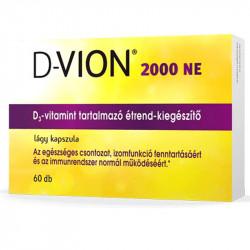 D-Vion 2000 NE kapszula, D-vitaminnal, 60db