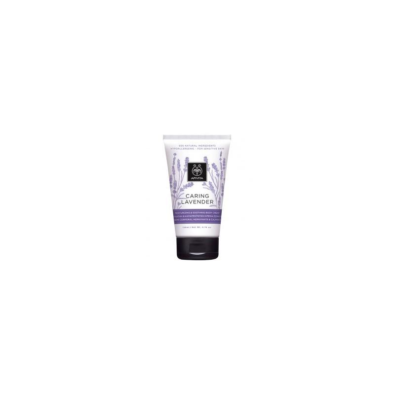 Apivita CARING LAVENDER Testápoló krém érzékeny bőrre nyugtató levendulával / Hipoallergén 150ml