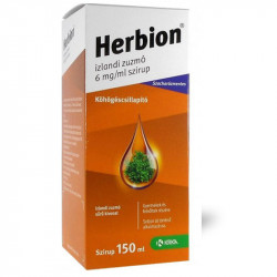 Herbion izlandi zuzmó szirup, 6 mg/ml, 150 ml