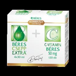 Béres csepp extra 4x30ml +C-vitamin 50mg, 120x csomag